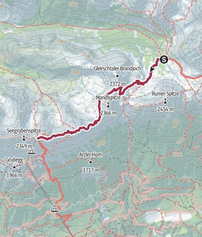 Map / Wanderung über den Goetheweg zur Innsbrucker Nordketten-Bahn