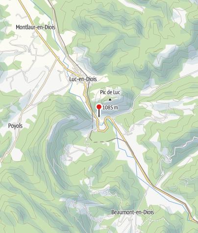 Kaart / Klimmen in de Drôme