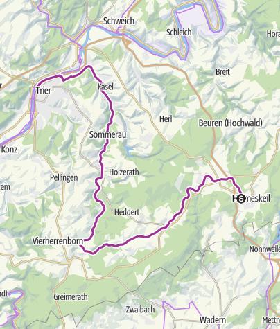Karte / Basislager Trier (Ruwer-Hochwald-Tour)