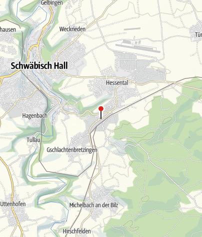 Karte / Bett+Bike Gasthof Leidig