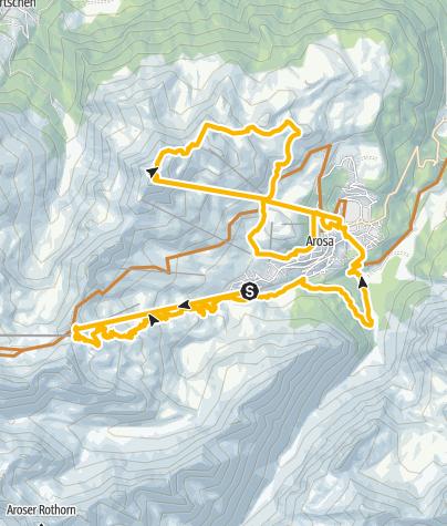 Map / Arosa Mountain Railway Tour