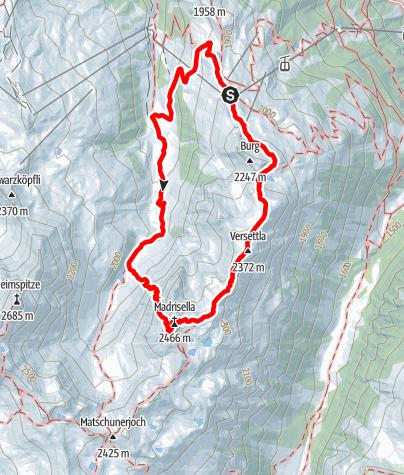 Kaart / Klettersteig Madrisella