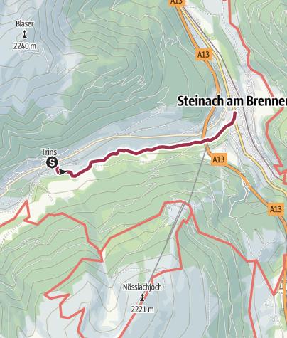 Karte / Trins - Steinach am Brenner