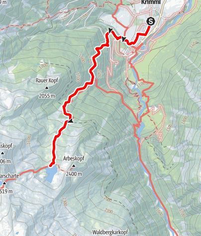 Kaart / Bergtour zum Seekarsee 2230m in Krimml