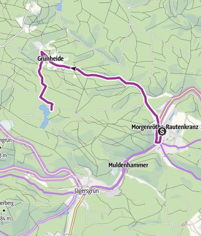 Karte / Mit dem Rad ums Dorf - Morgenröthe-Rautenkranz - Das Raumfahrtdorf - Tour 1