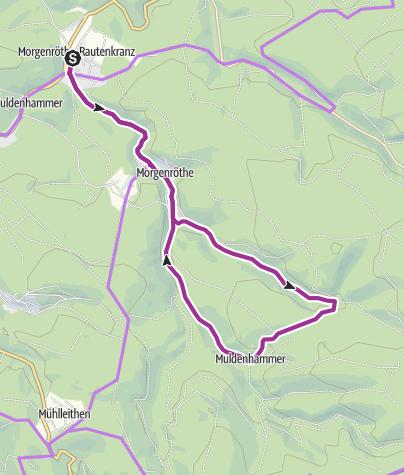 Karte / Mit dem Rad ums Dorf - Morgenröthe-Rautenkranz - Das Raumfahrtdorf - Tour 2