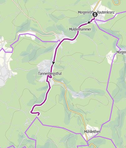 Karte / Mit dem Rad ums Dorf - Morgenröthe-Rautenkranz - Tour 4
