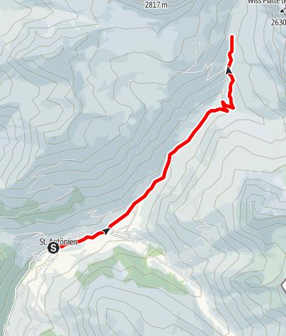 Karte / E-Bike Tour von St. Antönien zum Partnunsee