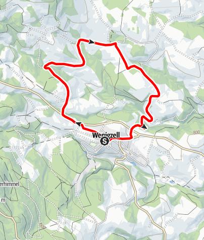 Karte / FamilyBike Wenigzell - Sanddornrunde