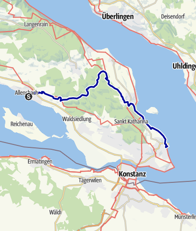 Karte / Zwischen zwei Seen: von Allensbach nach Konstanz