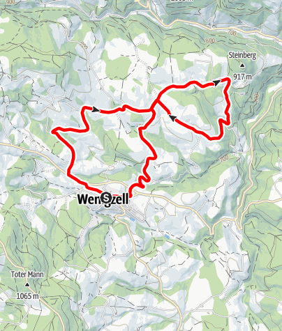 Karte / FamilyBike Wenigzell - Wadlzwicker Runde