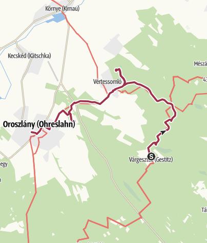 Térkép / A vértesi erdőből a szénbányák felé