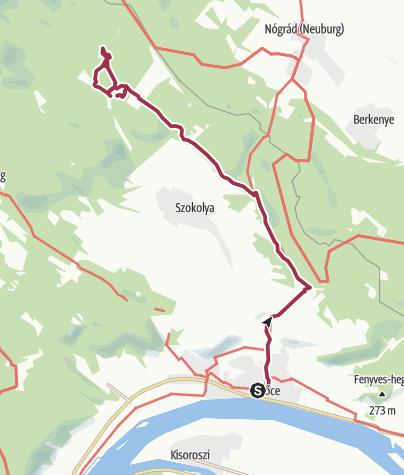 Map / March up to Királyrét on the best route!