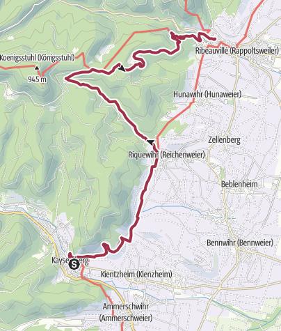 Map / Wanderung nach Ribeauvillé