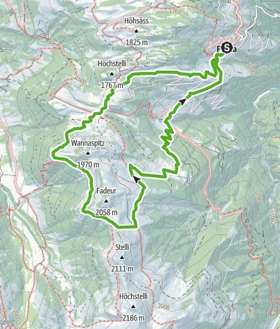 Karte / 701 Furner Rundweg