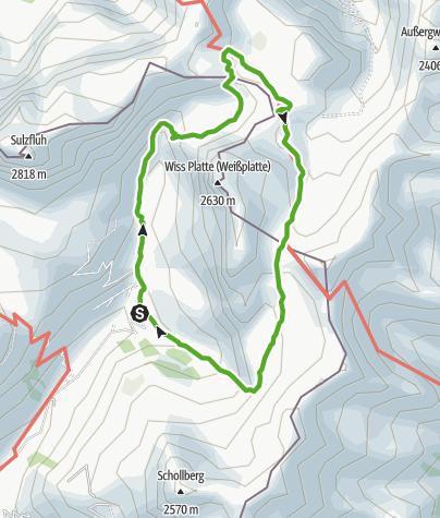 Karte / 702 Schijenfluh Umrundung, naturkundlicher Alpenrundweg