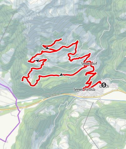 Karte / E-Bike Tour ins Maiensäss Valcaus