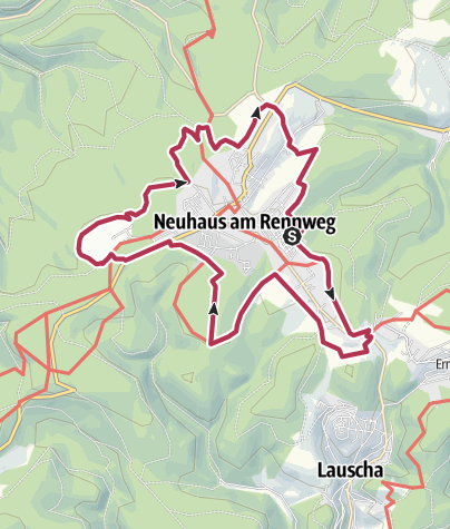 Karte / Stadtpanoramaweg Neuhaus am Rennweg