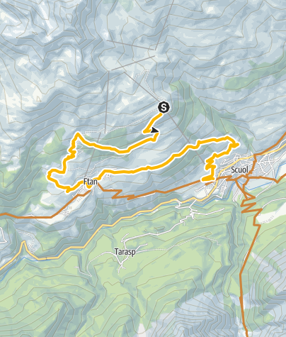 Karte / 447: Natèas Bike (Motta Naluns - Prui – Natèas –  Ftan – Scuol)
