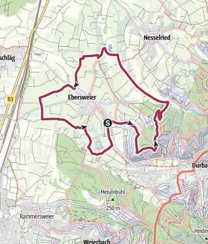 Karte / Rund um Ebersweier (Kombination aus den drei Ebersweier-Rundwegen)