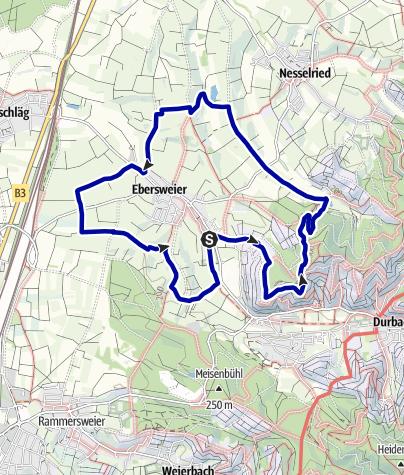 Map / Rund um Ebersweier (Kombination aus den drei Ebersweier-Rundwegen)