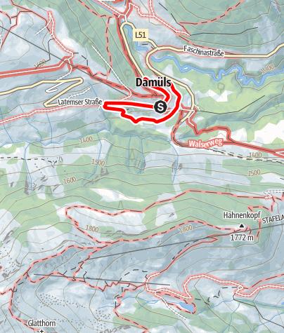 Karte / Damüls-Faschina | Kinderthemenweg