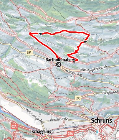 Karte / Siedlungsgeschichteweg am Bartholomäberg