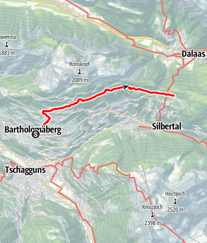 Map / Höhenweg (Bartholomäberg - Kristberg)