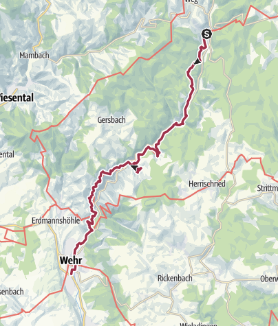 Kaart / Wanderung nach Wehr