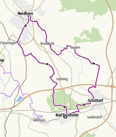 Map / Mit dem E-Bike Nordhorn und Schüttorf entdecken