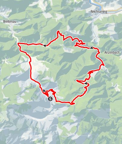 Karte / Ebenforstalm ab Molln über Gaißhansl, Rundradtour