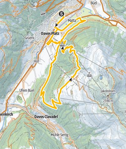 Map / 334 Clavadeler Alp (E-MTB tauglich)
