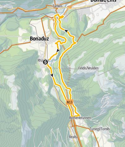 Karte / 261 Rhäzünser Rheinauen