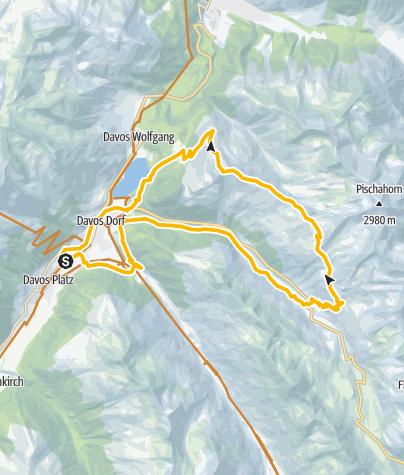Karte / 645 Pischa (E-MTB tauglich)