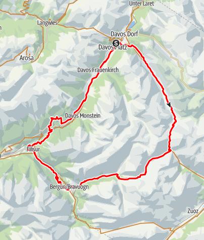 Karte / 339 Scalettapass / Keschhütte