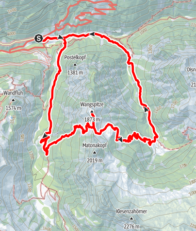 Karte / Buchboden - Matona Alpe - Bad Rothenbrunnen | Sonntag-Buchboden