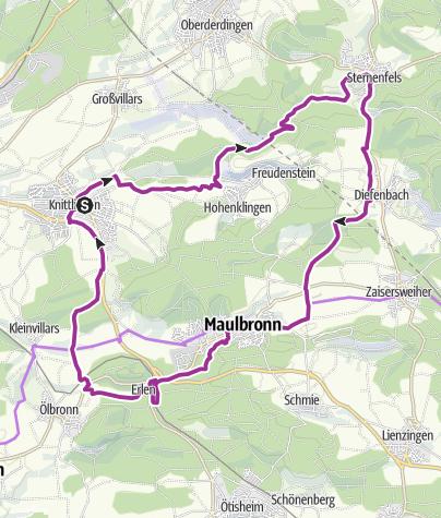 Karte / Kraichgau-Stromberg: Seen-Tour