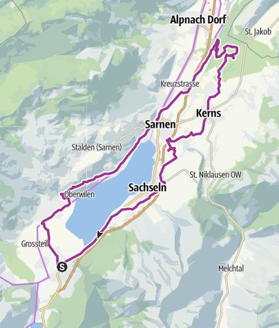 Karte / Obwaldner Seen Rundfahrt