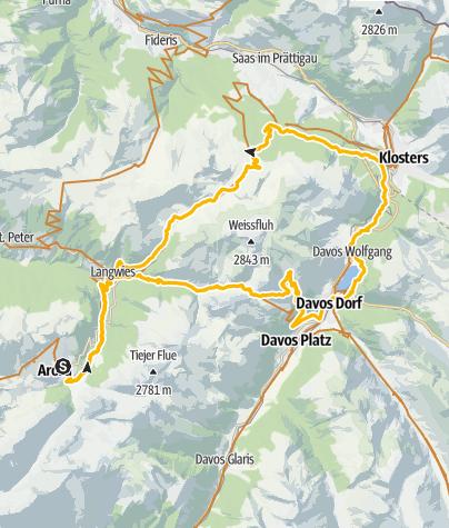Map / 631 Durannapass - Strelapass (E-MTB tauglich)