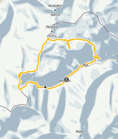 Karte / Samnauner Lieblingstour von Patrick Heis