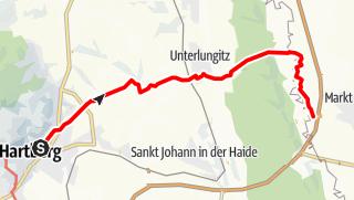Karte / Hartberg - Eggendorf - Lungitz - Lafnitztal (Maierhofermühle)