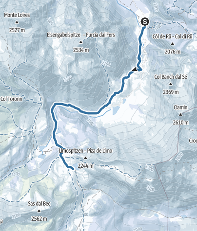 Cartina / Scialpinismo alla malga di Fanes
