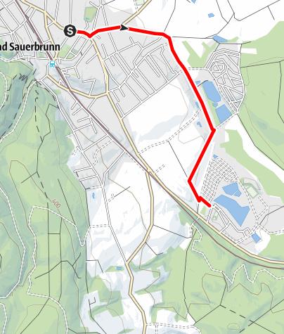 Karte / Verbindungsradweg Römersee - Bad Sauerbrunn