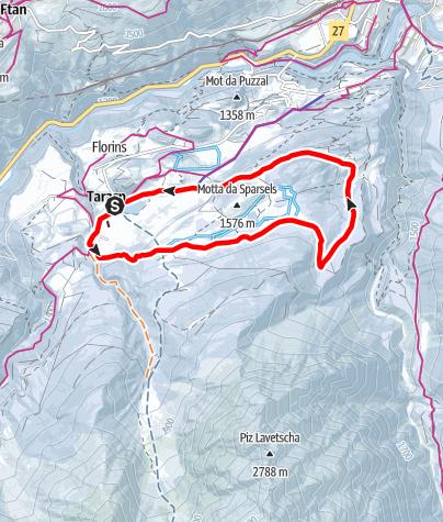 Karte / Tarasp Fontana - Lai Nair - Avrona (RW)