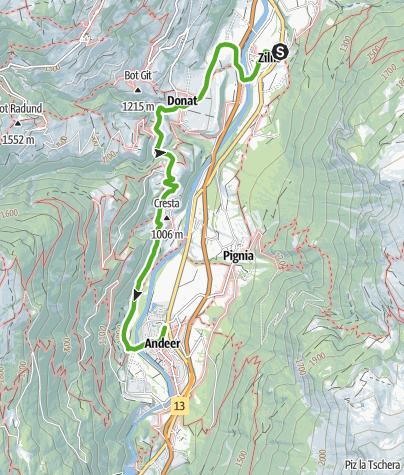 Karte / viaSpluga: von Zillis nach Andeer