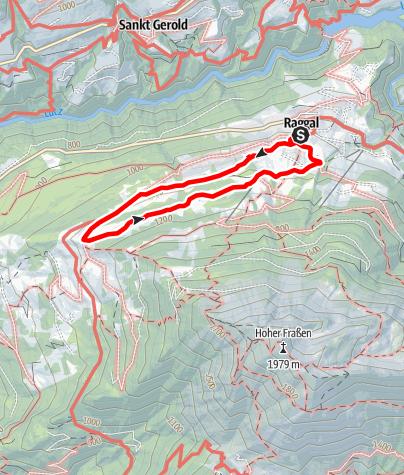Karte / Wiesweg über Labom | Raggal