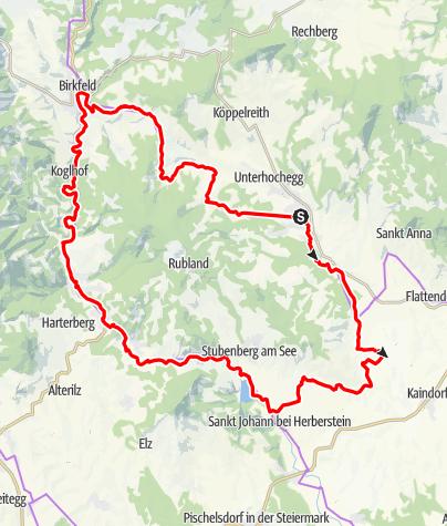 Karte / Entdeckertour 5 - Pöllau / Hofkirchen / Stubenberg / Anger / Birkfeld / Pöllau