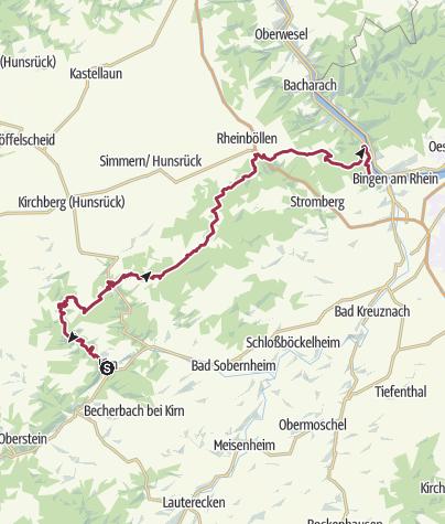 Carte / Netz offener Wasserhähne am Soonwaldsteig