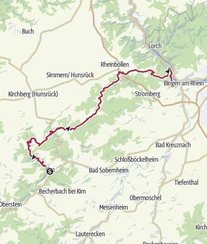 Karte / Netz offener Wasserhähne am Soonwaldsteig