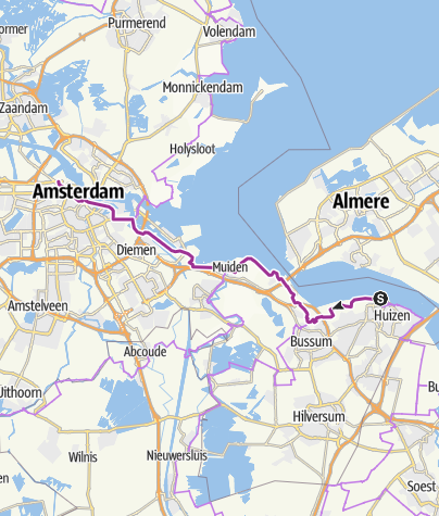 Map / Huizen to Amsterdam